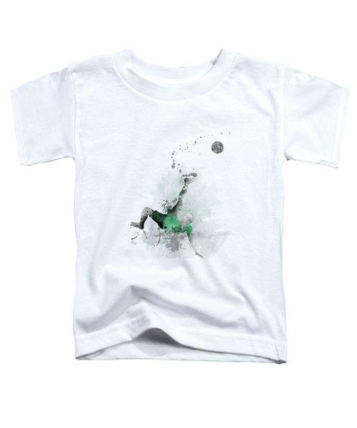 Soccer Player Toddler T-Shirt by Marlene Watson