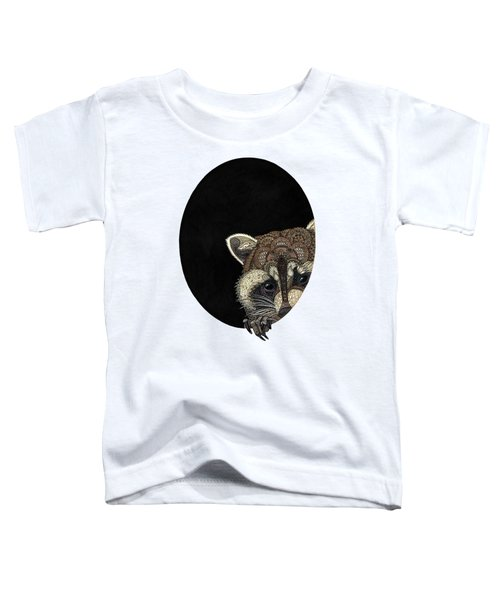 Socially Anxious Raccoon Toddler T-Shirt by ZH Field