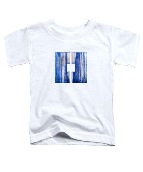 Split Square Blue Toddler T-Shirt by YoPedro