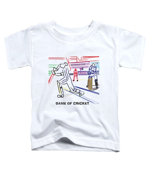 Sports Fan Cricket Played India England Pakistan Srilanka Southafrica Toddler T-Shirt by Navin Joshi