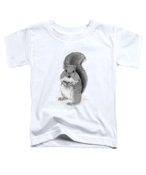 Squirrel Toddler T-Shirt by Rita Palmer