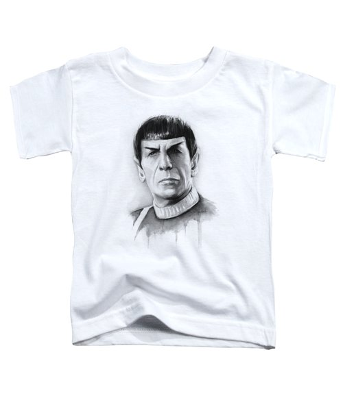 Star Trek Spock Portrait Toddler T-Shirt by Olga Shvartsur