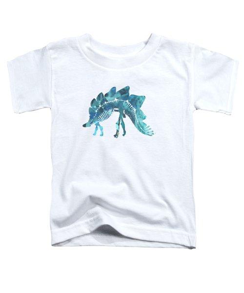 Stegosaurus Skeleton Toddler T-Shirt by Mordax Furittus