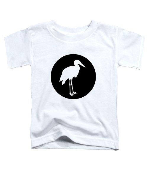 Stork Toddler T-Shirt by Mordax Furittus