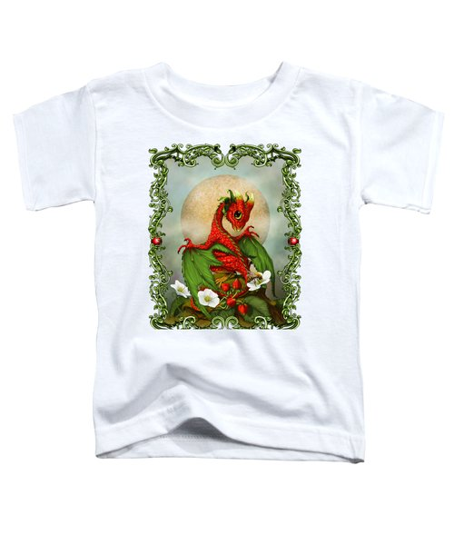 Strawberry Dragon T-shirt Toddler T-Shirt by Stanley Morrison