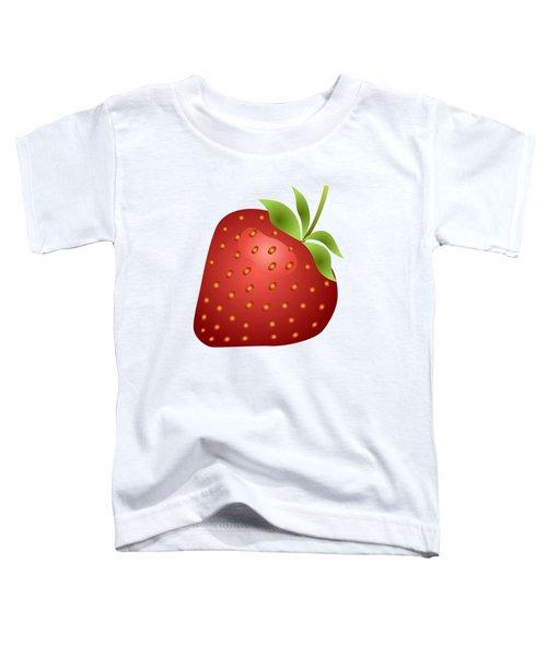 Strawberry Fruit Toddler T-Shirt by Miroslav Nemecek