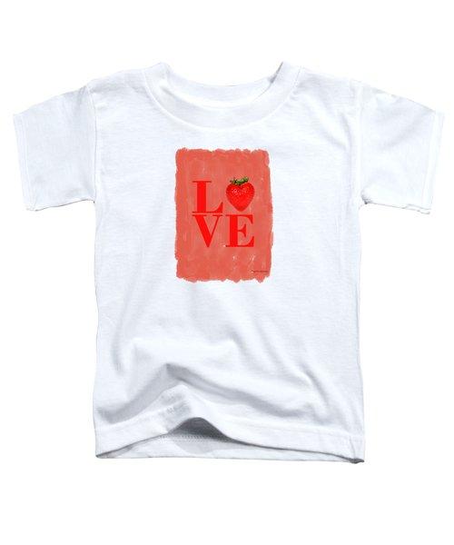 Strawberry Toddler T-Shirt by Mark Rogan
