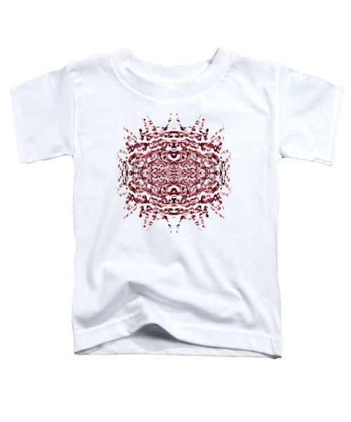 Strawberry Red Abstract Toddler T-Shirt by Frank Tschakert