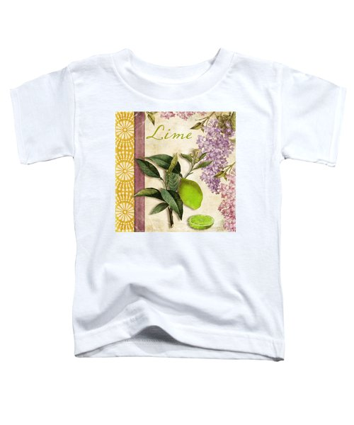 Summer Citrus Lime Toddler T-Shirt by Mindy Sommers