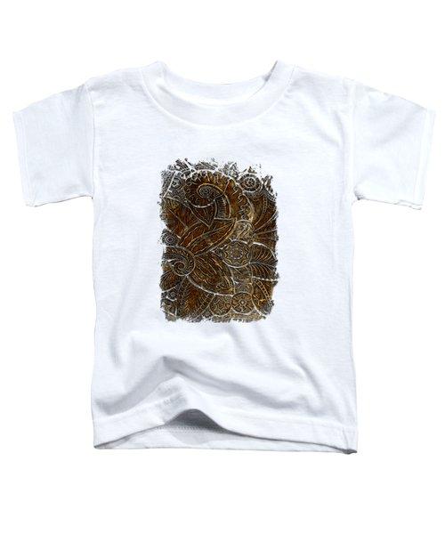 Swan Dance Earthy 3 Dimensional Toddler T-Shirt by Di Designs