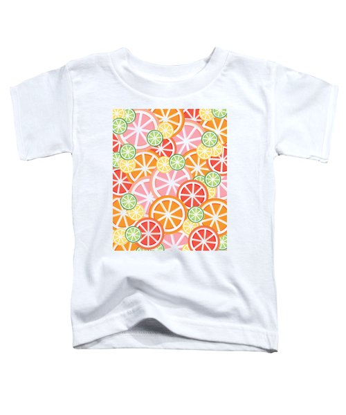 Sweet And Sour Citrus Print Toddler T-Shirt by Lauren Amelia Hughes