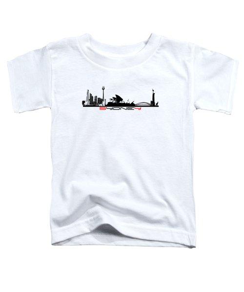 Sydney Skyline Black Toddler T-Shirt by Justyna JBJart