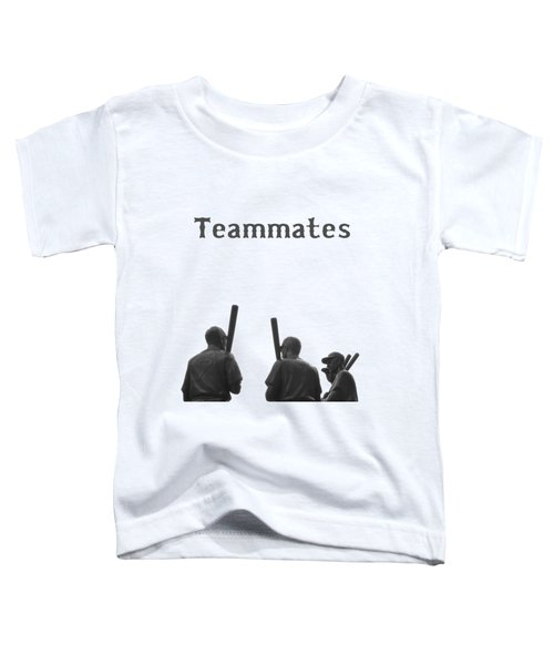 Teammates Poster - Boston Red Sox Toddler T-Shirt by Joann Vitali