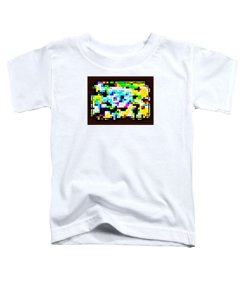 Techno Rainbow Toddler T-Shirt by Andy Rhodes