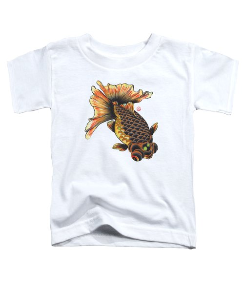 Telescope Goldfish Toddler T-Shirt by Shih Chang Yang