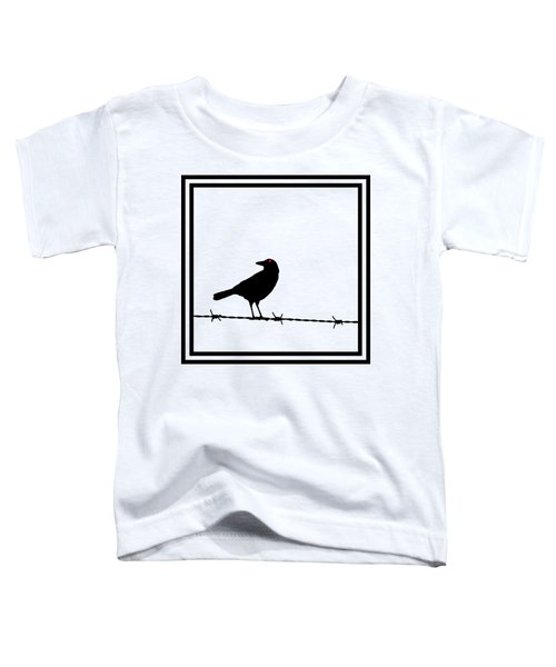 The Black Crow Knows T-shirt Toddler T-Shirt by Edward Fielding