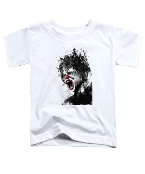 The Clown Toddler T-Shirt by Balazs Solti