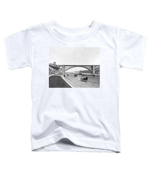 The Harlem River Speedway Toddler T-Shirt by William Henry jackson