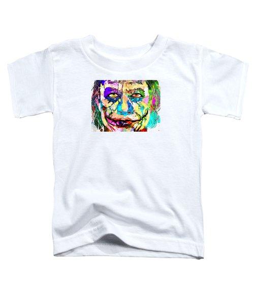 The Joker Grunge Toddler T-Shirt by Daniel Janda