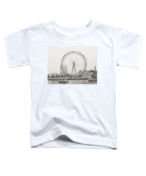 The London Eye Toddler T-Shirt by Vincent Alexander Booth