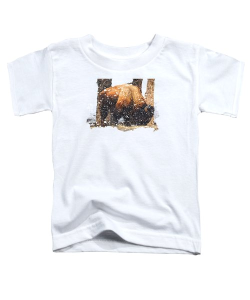 The Majestic Bison Toddler T-Shirt by Image Takers Photography LLC - Carol Haddon
