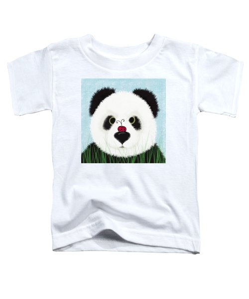 The Panda And His Visitor  Toddler T-Shirt by Michelle Brenmark