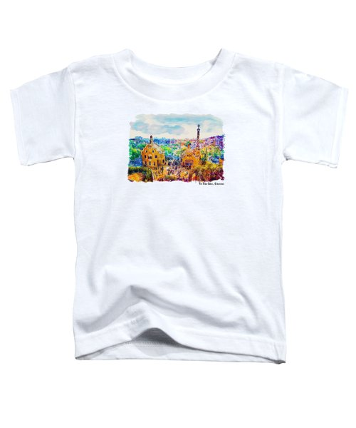 Park Guell Barcelona Toddler T-Shirt by Marian Voicu