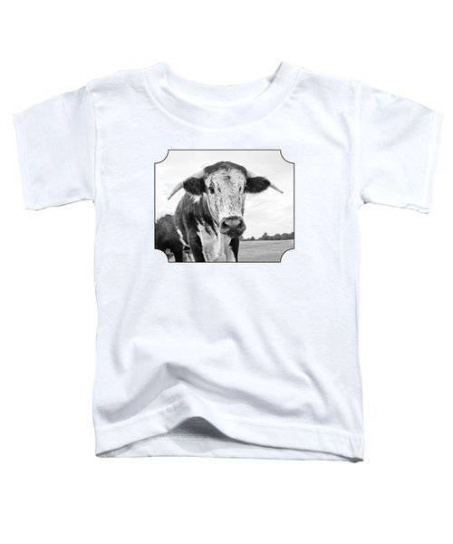 This Is My Field - Black And White Toddler T-Shirt by Gill Billington