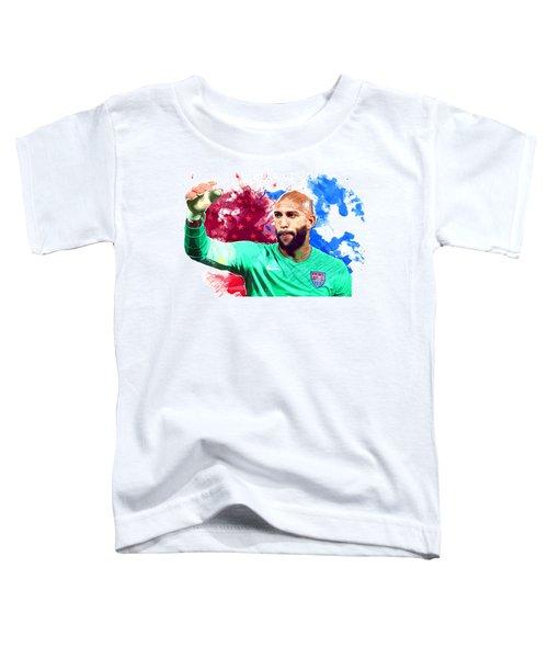 Tim Howard Toddler T-Shirt by Semih Yurdabak