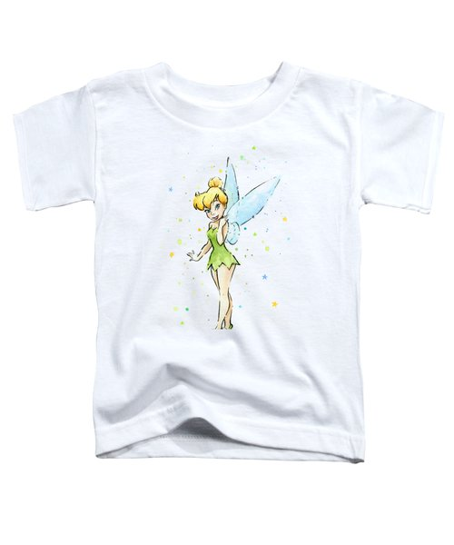 Tinker Bell Toddler T-Shirt by Olga Shvartsur