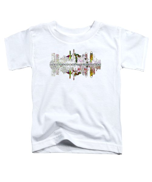 Tokyo Skyline On White Toddler T-Shirt by John Groves