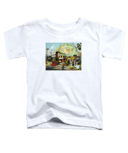 Transcontinental Railroad Toddler T-Shirt by War Is Hell Store