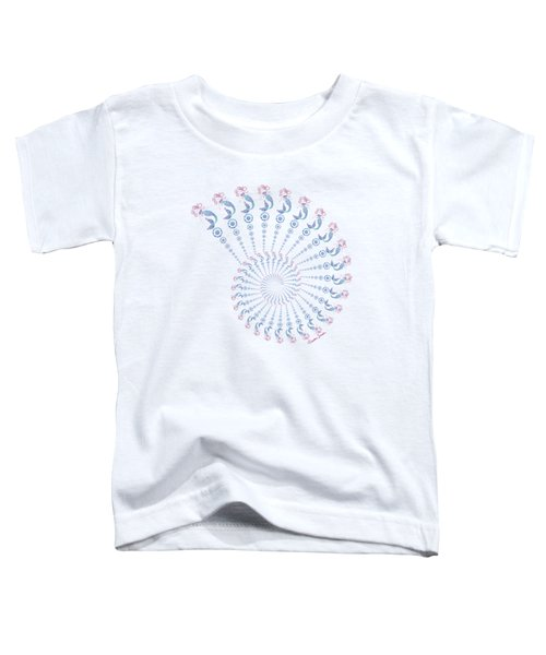 Tribal Mermaid Spiral Shell Toddler T-Shirt by Heather Schaefer