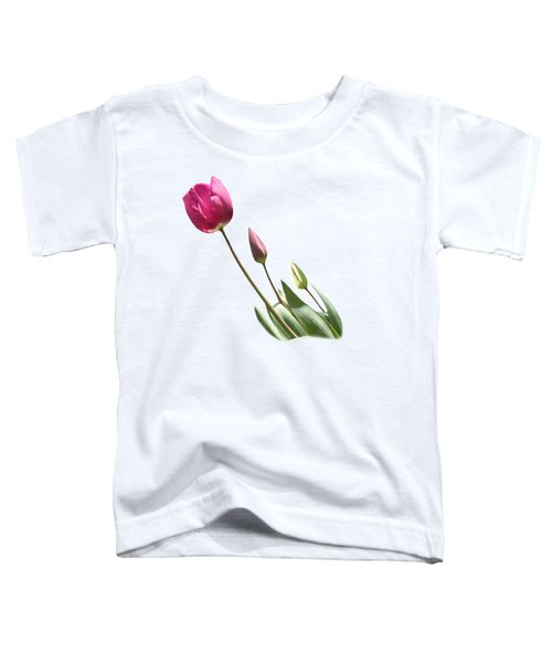 Tulips On Transparent Background Toddler T-Shirt by Terri Waters