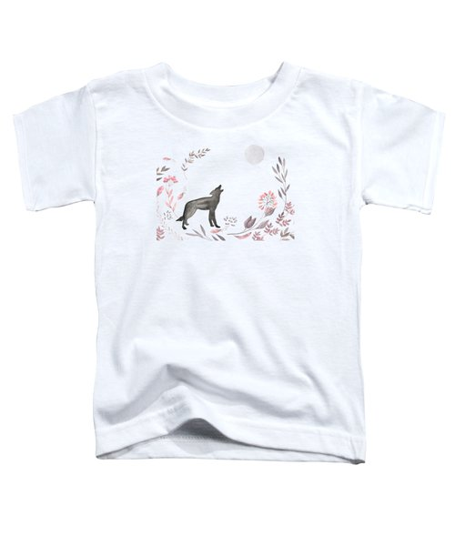 Twilight Wolf Toddler T-Shirt by Amanda  Lakey