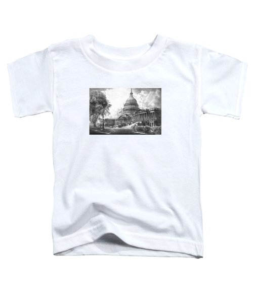 United States Capitol Building Toddler T-Shirt by War Is Hell Store