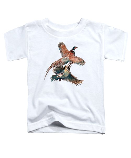 Up And Away Partridge And Pheasant Toddler T-Shirt by Richard Skilton