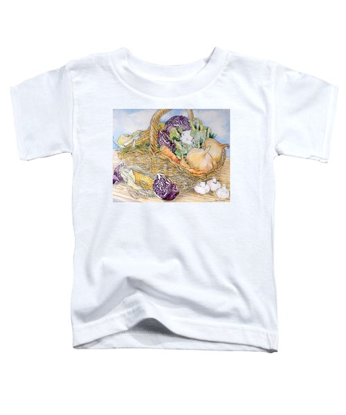 Vegetables In A Basket Toddler T-Shirt by Joan Thewsey