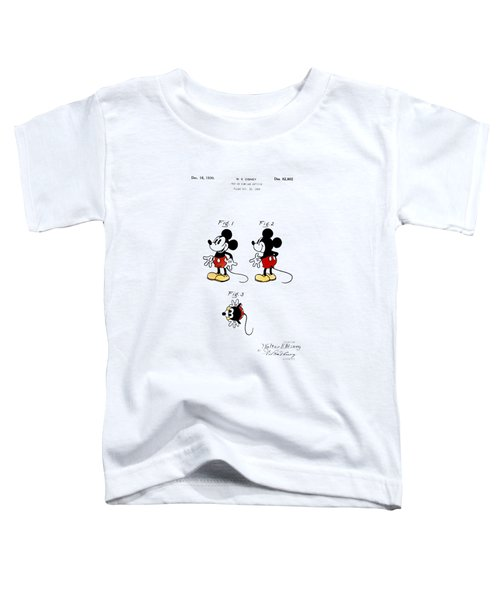 Vintage 1930 Mickey Mouse Patent Toddler T-Shirt by Digital Reproductions