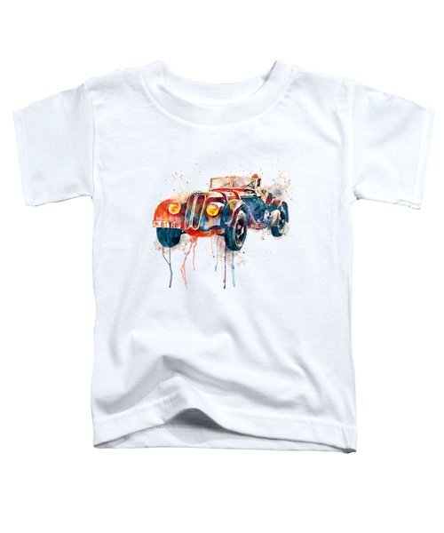 Vintage Bmw Watercolor Toddler T-Shirt by Marian Voicu