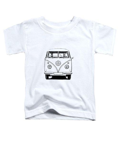 Vw Bus T-shirt Toddler T-Shirt by Edward Fielding