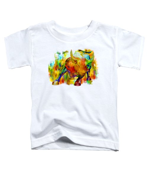 Wall Street Bull Toddler T-Shirt by Jack Zulli