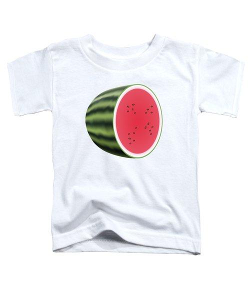 Water Melon Toddler T-Shirt by Miroslav Nemecek