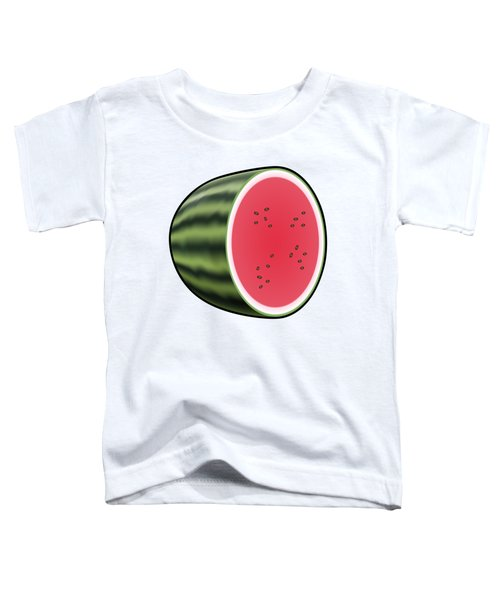 Water Melon Outlined Toddler T-Shirt by Miroslav Nemecek