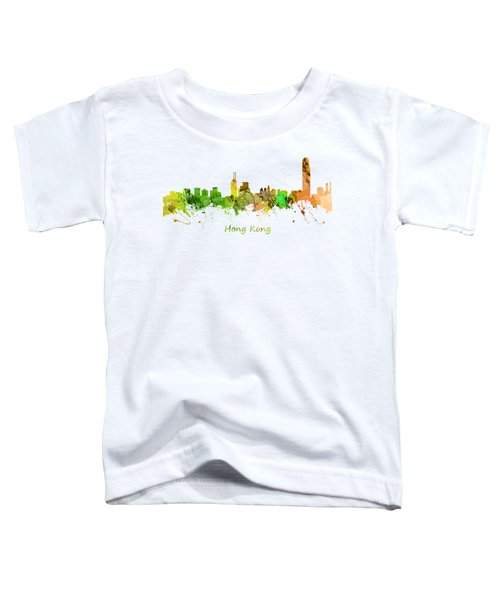 Watercolor Skyline Of Hong Kong Toddler T-Shirt by Chris Smith