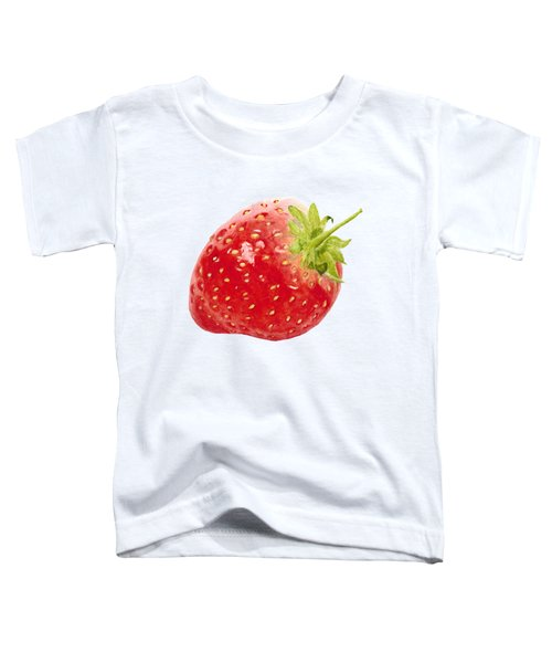 Watercolor Strawberry Toddler T-Shirt by Kathleen Skinner
