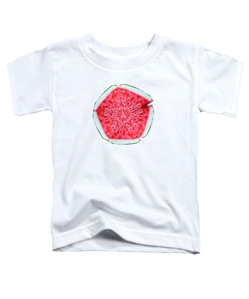 Watermelon Star Wheel Toddler T-Shirt by Shana Rowe Jackson