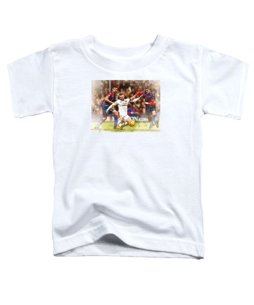 Wayne Rooney Shoots At Goal Toddler T-Shirt by Don Kuing