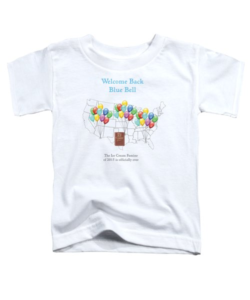 Welcome Back Blue Bell Toddler T-Shirt by Jacquie King