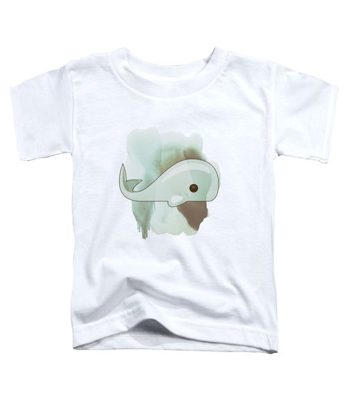 Whale Art - Bright Ocean Life Pastel Color Artwork Toddler T-Shirt by Wall Art Prints